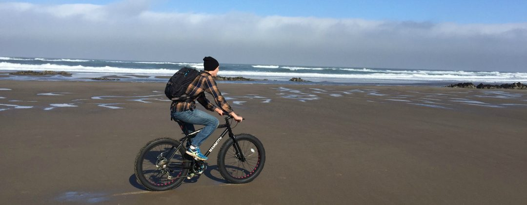 Fat tire bikes rentals on the beach