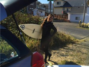 Surfing in Lincoln City