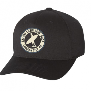 Safari Town Surf Shop Flexfit Hats
