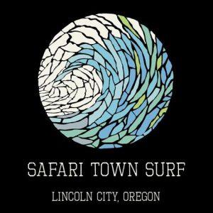 Safari Town Surf Mosaic Wave Surf T-Shirt