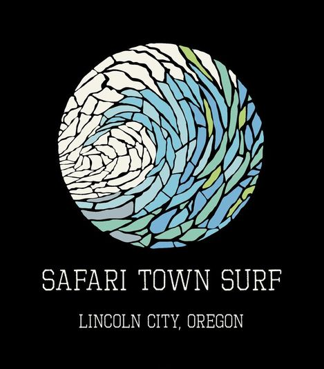 Safari Town Surf Mosaic Wave Surf T-Shirt
