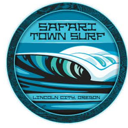 Safari Town Surf Ocean Wave Sticker