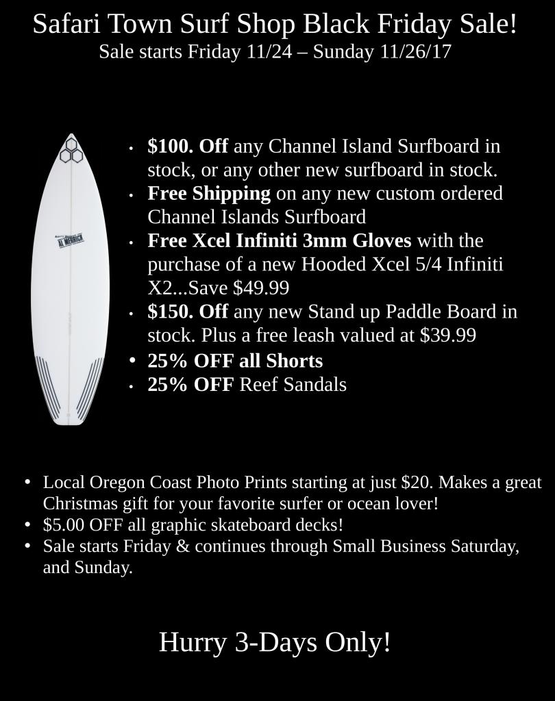 Black Friday Sale Safari Town Surf Shop