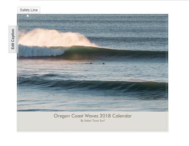 2018 Oregon Coast Waves Calendar