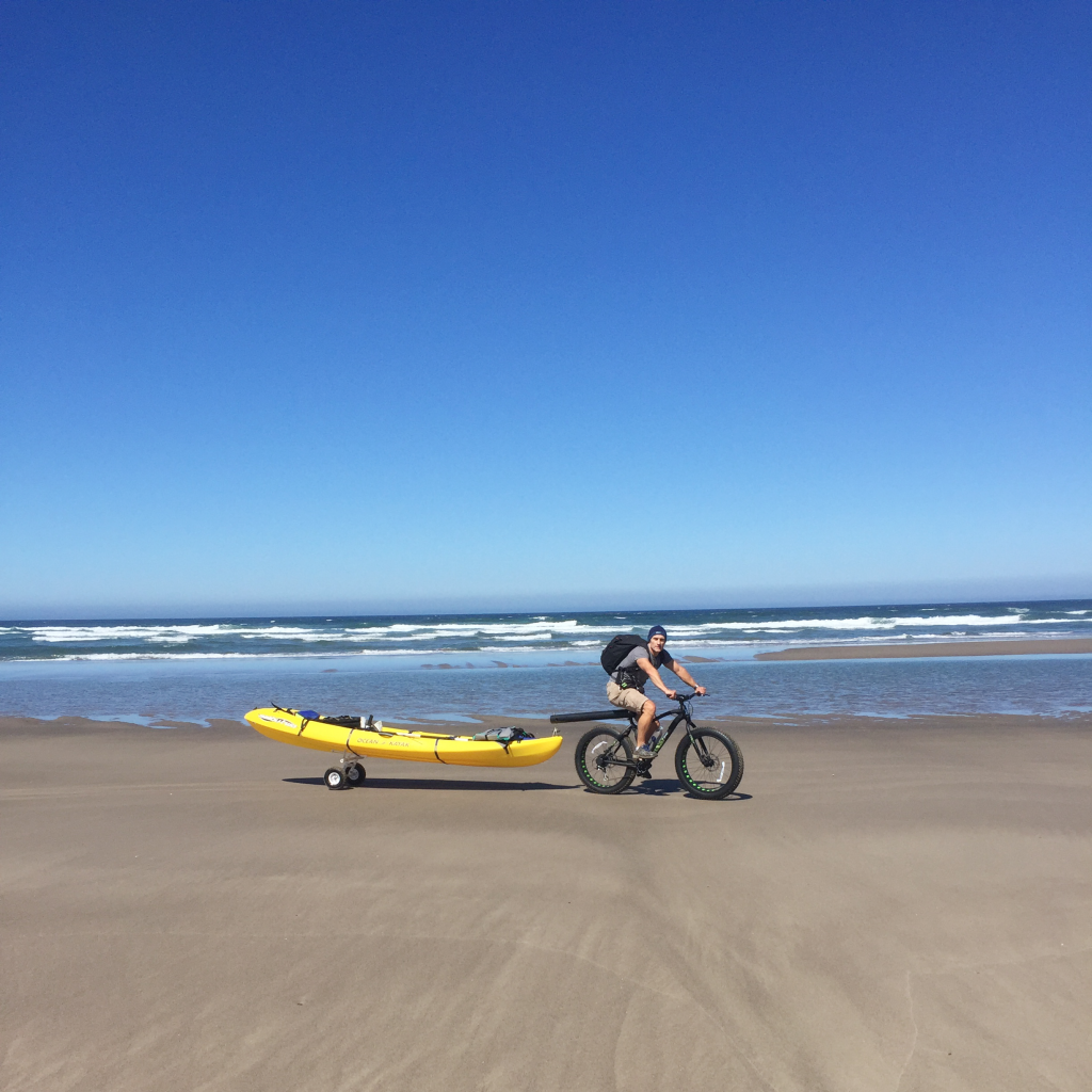 Ocean kayaking on the Oregon coast