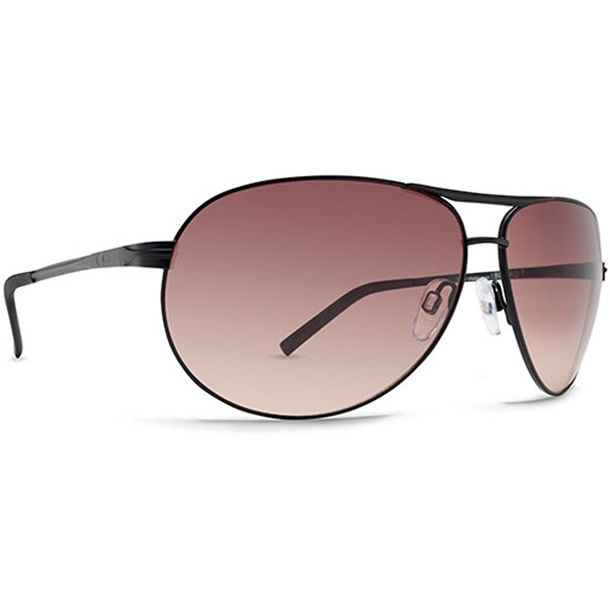 Dot Dash Buford T Black Satin Brown Gradient Sunglasses