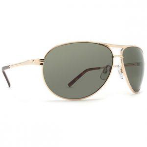 Dot Dash Buford T Gold Retro Grey Sunglasses