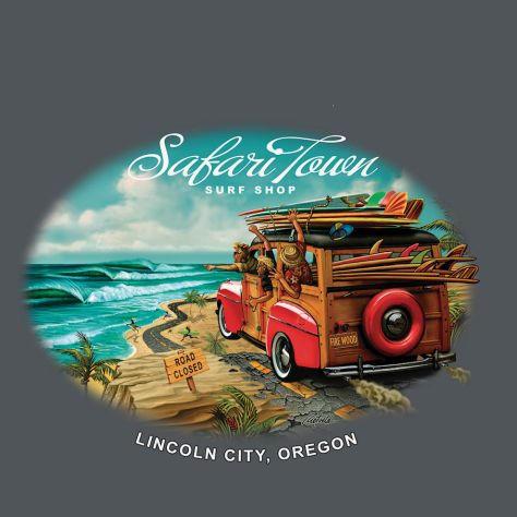 Safari Town Surf On Safari Tee