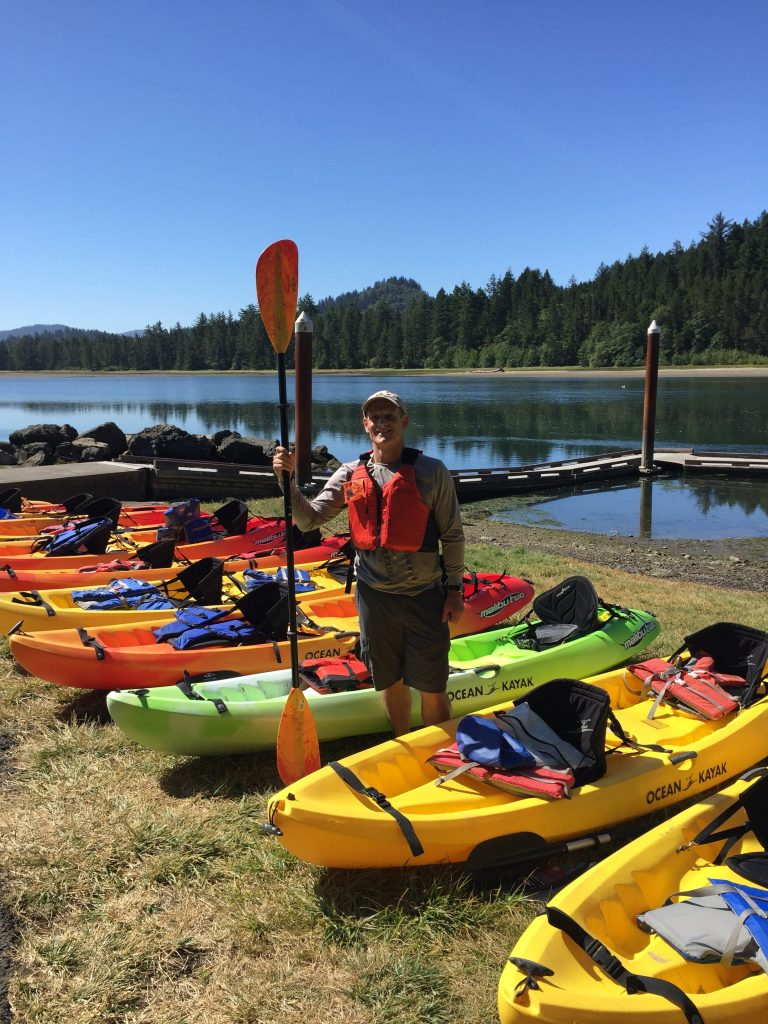 Lincoln City Kayak Tour Guide Tony Gile