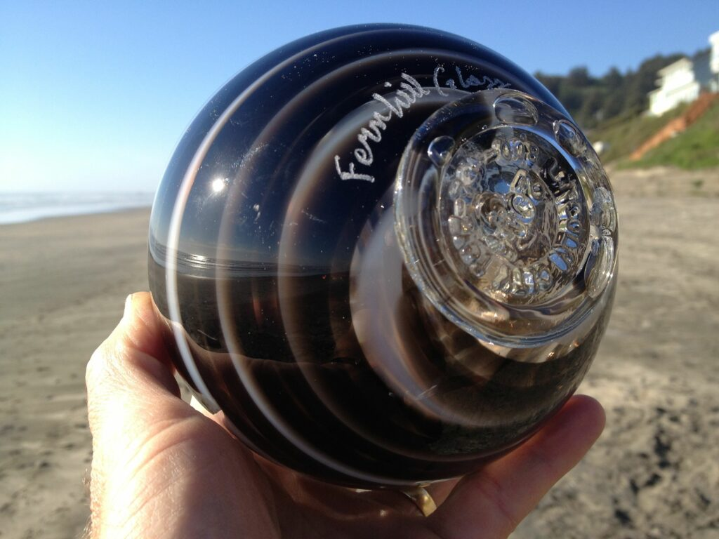 Find a glass float in Lincoln City Oregon