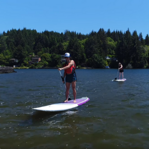 Ladies Paddle Boarding in Lincoln City